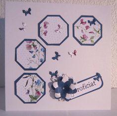 selfmade card Verjaardagskaart