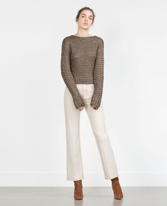 Image 4 of CROPPED SWEATER from Zara | Jumpers | Pinterest ...