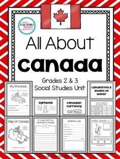 Canada: Provinces, Territories, Symbols, Bodies of Water Canada For Kids, All About Canada, American History Lessons, Canadian History, Canadian Symbols, Social Studies Activities, Teaching Social Studies, Canadian Social Studies, Landforms And Bodies Of Water