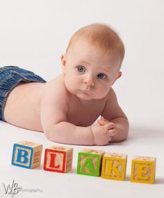 6 month old boy photoshoot - Google Search