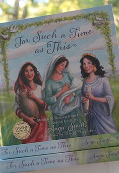 """This beautiful girls bible storybook, """"For Such a Time as This: Stories of Women from the Bible, Retold for Girls"""" is a must for all families. 250+ pages, beautiful color illustrations and fantastic writing. #kidsbooks #biblestorybook #bible"""