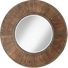 "Universal Lighting and Decor 11J076 Easton Wood Panel 31 1/2"" Distressed Wall Mirror"