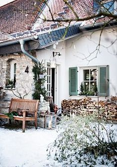 Winter Cottage in the Country