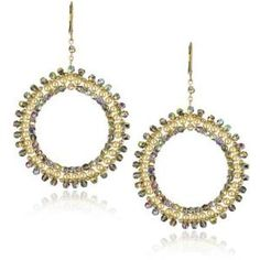 "Jamie Kole \""Stars\"" 14K Gold Fill and Swarovski Crystal and Pearl Earrings"