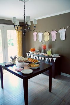 could be fun to hang onesies, or bunting, or cloth diapers