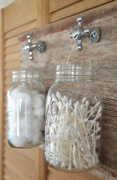 Mason Jar Bathroom Organizer - Mason Jar Crafts Love
