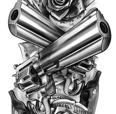 CG art / Lock, Stock and Two Smoking Barrels on Behance Chicano Art Tattoos, Chicano Drawings, Palm Tattoos, Dope Tattoos, Tattoo Design Drawings, Tattoo Designs, Money Rose Tattoo, Smoke Tattoo, Clown Tattoo