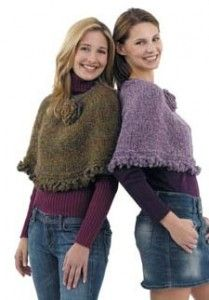 Make the girls ponchos from my old sweaters (cut top off my sweaters, cut up arm and sew to body to make short poncho for girls) http://craftstew.com/knit/knit-poncho-pattern