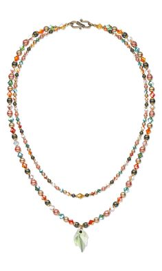 Jewelry Design - Double-Strand Necklace with Swarovski Crystal - Fire Mountain Gems and Beads