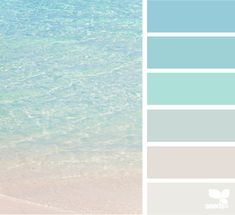 crystal clear - color palette from Design Seeds Colour Schemes, Color Combos, Colour Palettes, Color Palette Blue, Beach Color Schemes, Paint Palettes, Paint Schemes, Pantone, Beach Bathrooms