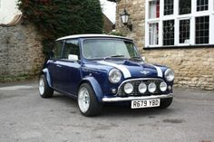 Dark blue Classic Mini Cooper