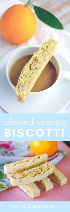 Almond-Orange Biscotti are great, Italian-inspired cookies you'll love for the holidays. These biscotti cookies are amazing -- perfect for dunking, too! #cookies #biscotti