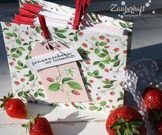 Zauberhaft handgemacht, Album mit Kronenbindung, Erdbeeren, Charlie und Paulchen, Rezepte, Mini Album