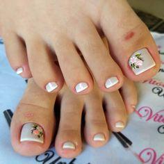 Pedicure Designs, Manicure E Pedicure, Nail Designs, Toe Nail Art, Toe Nails, Manicures, Barbie, Toe Nail Designs, Perfect Nails
