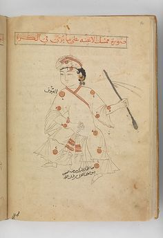 Auriga (mumsik al-a'innah), the charioteer. (Constellations of the northern hemisphere). Kitab suwar al-kawakib al-thabita (Book of the Images of the Fixed Stars) of al-Sufi Author: `Abd al-Rahman al-Sufi  (903–86) Object Name: Illustrated manuscript Date: late 15th century Geography: Iran Culture: Islamic Medium: Ink and gold on paper; leather binding Dimensions: H. 10 3/16 in. (25.8 cm) W. 7 1/8 in. (18.1 cm)