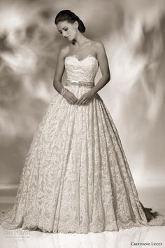 cristiano lucci 2013 wedding dress style 12806 sienna strapless sweetheart ball gown -- Cristiano Lucci 2013 Wedding Dresses