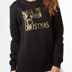 wake me up when it's christmas jumper by nappy head | notonthehighstreet.com