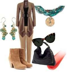 """""""tan transitional"""" by anfernee-131 ❤ liked on Polyvore"""