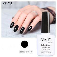 MYS Nail Gel Polish French manicure Black Color UV Lamp LED Soak Off gel lacquer Cheap Nail Art Polish 10ml