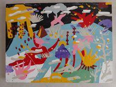 by Miguel Malinconico pintura esmalte sintetico sobre madera 40 x 35 cmts