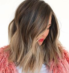 56 Gorgeous Ombre Hair Color Trends for Elegant ombre hair color trends you really need to know right now for best hair looks. Ombre is a popular hair coloring technique to use for best hair colors and hairstyles. Brown Ombre Hair, Brown Hair With Highlights, Brown Blonde Hair, Ombre Hair Color, Light Brown Hair, Brunette Hair, Color Highlights, Partial Highlights, Short Blonde
