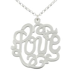 Love Silver Monogram Necklace