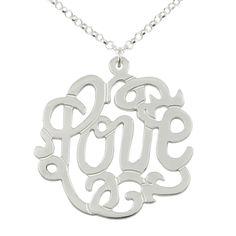 Love Silver Monogram Necklace