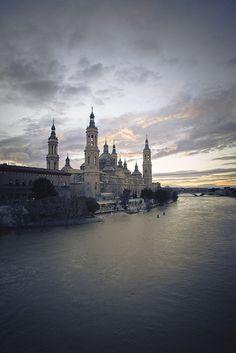 River Ebro in Zaragoza, Spain