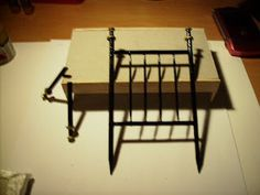 "Detailed instructions for ""wrought iron"" or brass bed made out of toothpicks 
