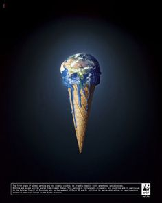 The World like an ice cream WWF #Campaign #Advertising #Advertisement #Advert #Ad