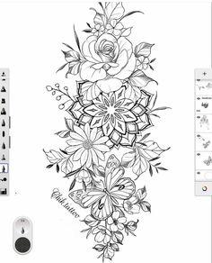 Dope Tattoos, Badass Tattoos, Mini Tattoos, Body Art Tattoos, Tatoos, Tattoos For Women Half Sleeve, Shoulder Tattoos For Women, Hip Tattoos Women, Floral Tattoo Design