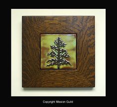 Pine tree tile, Mission Guild Studio.