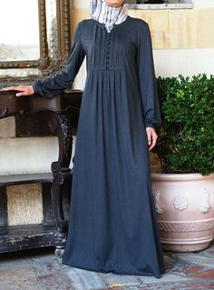 Carefree Jersey Abaya Dress Save 46% Castlerock color  Our bestselling Carefree Abaya is now available in our popular mixed jersey blend. This fabric is fluid and comfortable and retains its shape a lot better than most jersey fabrics.