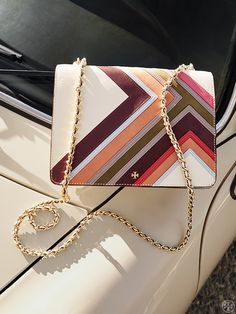 Tory Burch Robinson Multi-Stripe Convertible Shoulder Bag