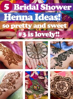 Mehndi (Henna) Bridal Showers are so sweet!! Gifting your friends and family with beautiful Henna Tattoos on their hands is such a fun and elegant surprise! A luxurious way to pamper your guests, you can't get more feminine and pretty than this! www.bridalshowerideasandgames.com | http://www.bridalshowerideasandgames.com/henna-your-hands-have-a-mehndi-bridal-shower-3-is-so-pretty/ | # Fun Bridal Shower Activities | Bridal Shower Themes | Fun Bridal Shower Games | Mehndi Bridal Shower