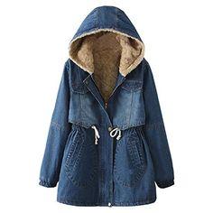 415ee8f2517c Winter Women Denim Jacket Flocking Coats New Fashion Hooded Cotton Parkas  Plus Size Jackets Female Warm Casual Outerwear. Lace