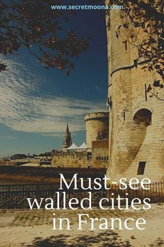 the 14 must-see walled cities and towns in france - SecretMoona Europe Travel Guide, France Travel, Travel Destinations, Gothic Cathedral, Tourist Office, Walled City, Medieval Town, Travel Inspiration, Travel Ideas