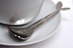 Designer Dip & Stir Spoon. W.Momberg Stainless Steel Cutlery, Flatware, Spoon, Dips, Tableware, Design, Cutlery Set, Sauces, Dinnerware