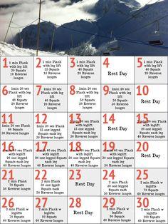 Starting 30 day ski leg challenge tomorrow - Can't wait for ski season to start!