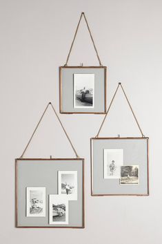 Hinged Hanging Picture Frame// LOVE the use of old family pictures!!