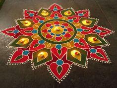 Rangoli Patterns, Rangoli Ideas, Rangoli Designs Diwali, Yin Yang, Diwali Decorations, Wedding Decorations, Happy Diwali Rangoli, Mehandi Designs, Indian Gods