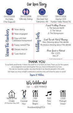 Printable Custom Info Graphic Wedding Program Digital Download