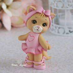 Dessert Drinks, Desserts, Clay Figurine, Clay Animals, Clay Dolls, Princess Peach, Cake Decorating, Teddy Bear, Crafts