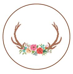 Modern Deer Cross Stitch Pattern cross stitch door ZindagiDesigns