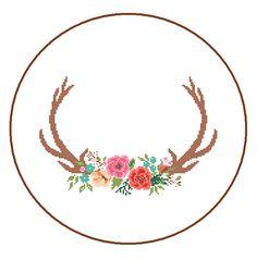Modern Deer Cross Stitch Pattern cross stitch by ZindagiDesigns