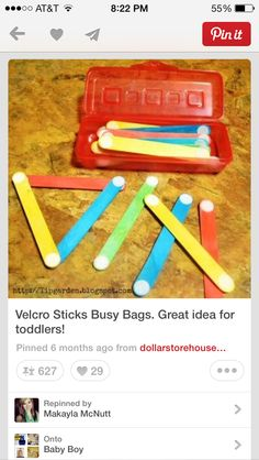 Velcro sticks are colorful and creative, The children can make items without having to glue them together
