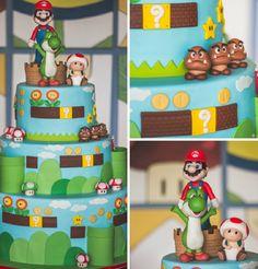Bolo tema Mario - Foto Graziele Novais