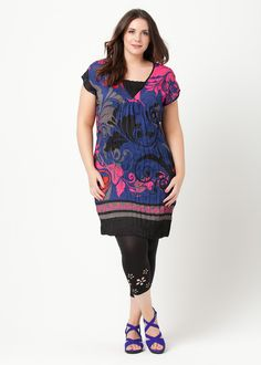 Big Sizes Womens Clothing   Clothes for Larger Size Women - FLORAL ISLAND DRESS - TS14
