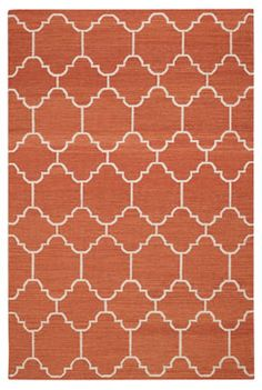 "A classic tile pattern from the middle east and northern Africa, it's one of my go to mosaics in flooring.  By switching mediums and using it on a rug gives it new life.""  Genevieve Gorder    100% wool.  Woven in India."
