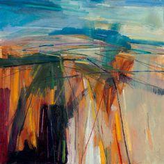 Burnt Summer Landscape 59x59cm 2011 Oil on Board Estate of Peter Iden #19